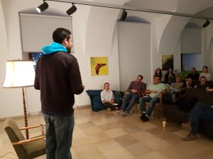 English poetry Reading, Living Poets Society, Linz, Phillip Burmester, International Graduates Club Linz,