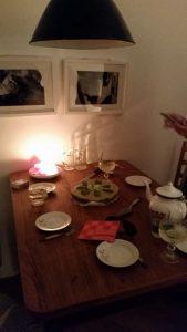 Vorbereiteter Gang beim Dinner