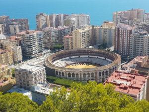 Blick auf die Stierkampfarena in Malaga