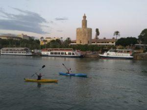 Kajaken in Sevilla